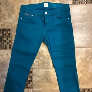 Guess by Marciano teal skinny jeans